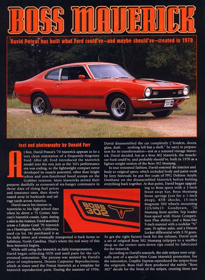 The Ford Maverick Articles Page
